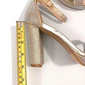 Champagne Platform High Block Heel